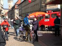 in der Fußgängerzone in Fürth