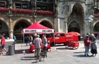 auf dem Münchner Marienplatz