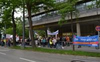 Verdi Streikerfassung und Kundgebung